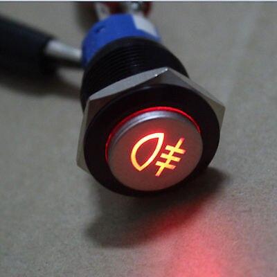 300 шт черный чехол 19 мм оранжевый светодиодный автомобиля противотуманные символ света из металла кнопка с самовозвратом переключатель