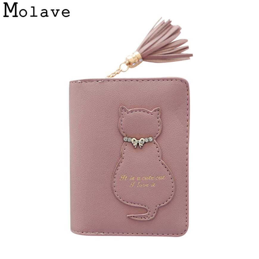 Naivety Tassel Short Wallet Cat Patchwork PU Leather Wallets Female Zipper Hasp Card Holder Purse 30S71211 drop shipping naivety drop shipping women cute coin purse pu leather cartoon rabbit printing short wallet animal monedero de la moneda 28s7626