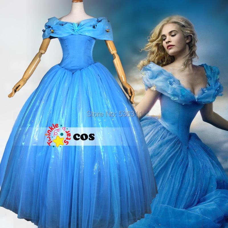 Achetez en gros cendrillon bleu robe en ligne des grossistes cendrillon bleu robe chinois - Costume princesse disney adulte ...