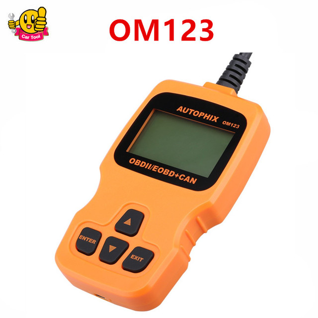 2016 многоязычная AUTOPHIX OBDMATE OM123 OBD2 EOBD CAN ручной Двигатель Code Reader OM 123 Автоматический Диагностический сканер