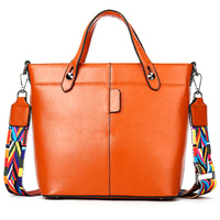 Luxury Genuine Leather Women S Handbag High Quality Durable Cowhide Leather Casual Tote Fashion Business Female