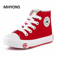 2016 New Fashion 4 Colors Casual Children Shoes Lace Up Boys Girls Canvas Sport Shoes Child