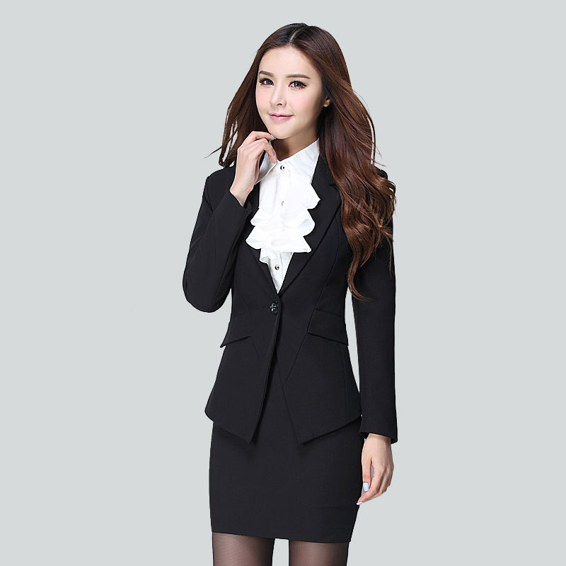 New Business attire 2016 spring and autumn Plus size women's ...