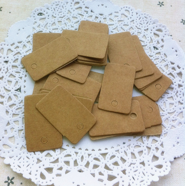 Kraft Paper Square Small Label Clothing Label Blank Paper Cards Handmade Soap Tag Identification Card Wedding Decoration Party