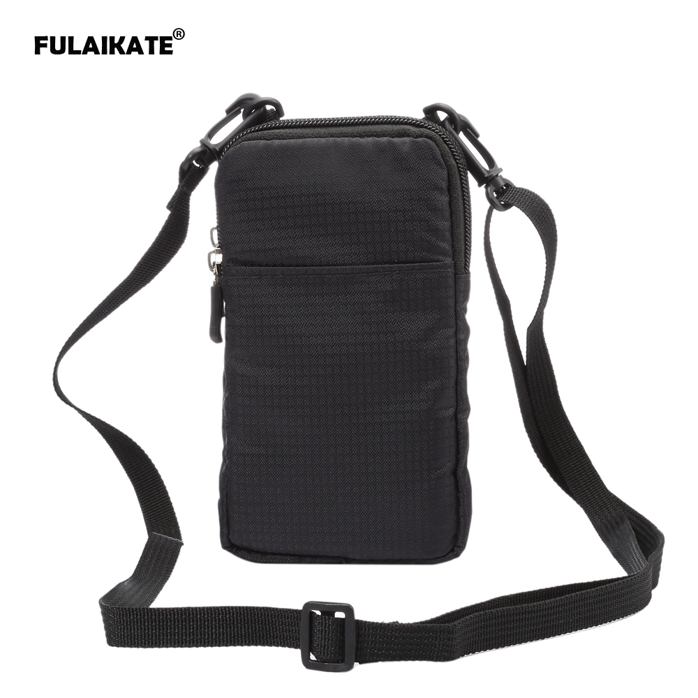 FULAIKATE SPORTS Universal Wallet Bag til iphone6 ​​7 Plus Climbing Portable Case til iPhone 6s mobiltelefon Skulder taske hylster