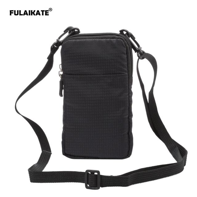 FULAIKATE THỂ THAO Phổ Wallet Bag cho iphone6 7 Cộng Với Leo Trường Hợp Cầm Tay cho iPhone 6 s điện thoại di động Vai túi holster