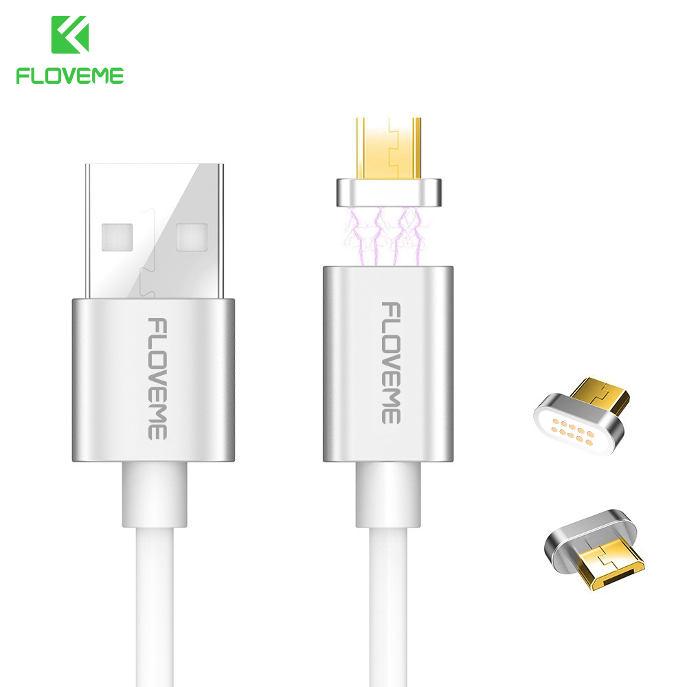 FLOVEME Micro USB Magnetic Charger Cable For Android Phone 5V 2A Magnet Charge Data Sync Cable