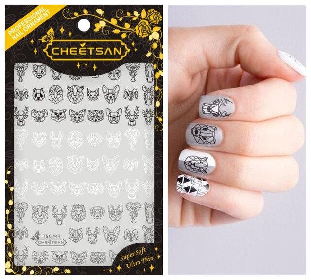 2018 Newest 3d nail art sticker cheetsan nail Template Decals Tool ...