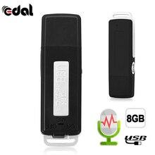 Портативный 2 в 1 Мини 8 Гб USB ручка флэш-накопитель диск цифровой Аудио Диктофон 70 часов портативный мини Запись Диктофон