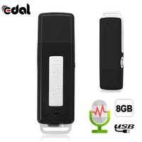 Przenośny 2 w 1 Mini 8GB USB Flash dysk cyfrowy audio dyktafon 70 godzin przenośny Mini nagrywanie dyktafon