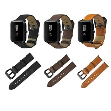 20mm Leather Stainless Steel Buckle Replacement Smart Watch Strap Watch Band Wrist Strap For Huami For Amazfit Youth Version стоимость