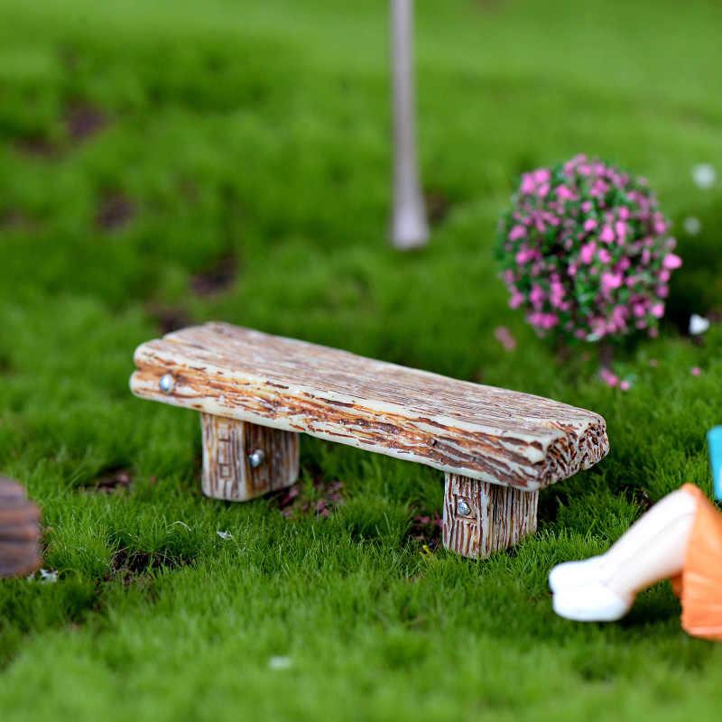 INKANEAR البسيطة كرسي لعب الراتنج الحرف مايكرو الجنية مقعد حديقة مصغرة/تررم الأثاث الحلي اكسسوارات DIY