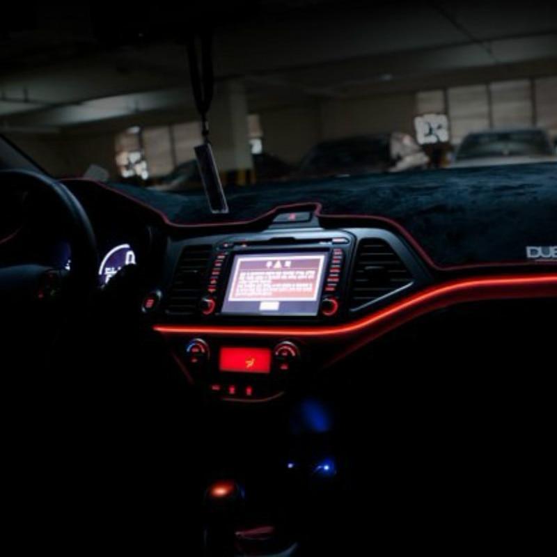 ДЖУРУС 1 м/39 дюймов атмосфера лампы автомобилей внутреннее освещение рассеянного света, холодное линии DIY декоративные панели двери автомобиля стайлинг