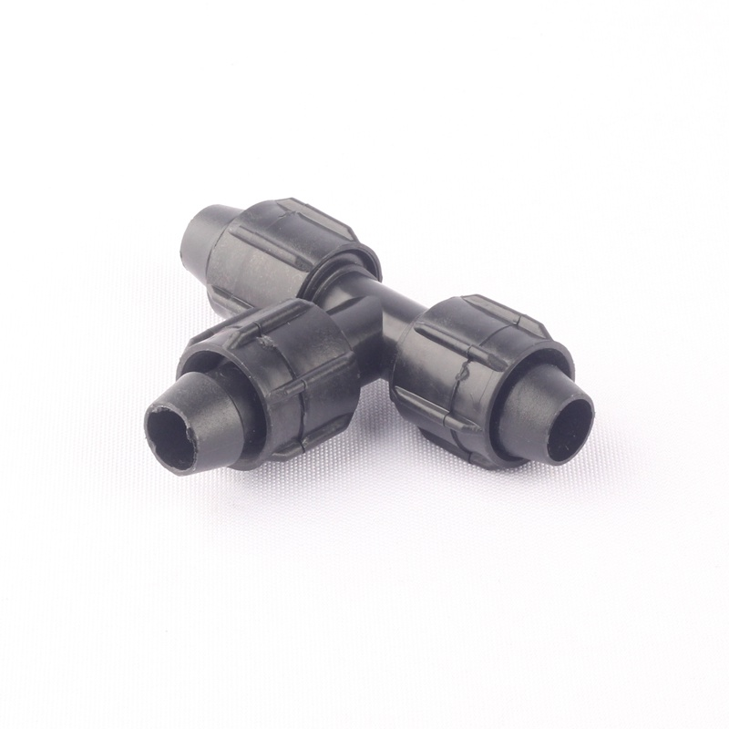 16PE Drip Pipe Connector Micro Irrigation PE Pipe Water Valve Thread Locked More Fixed Tee Coupling Connector Tube End Plug in Garden Water Connectors from Home Garden