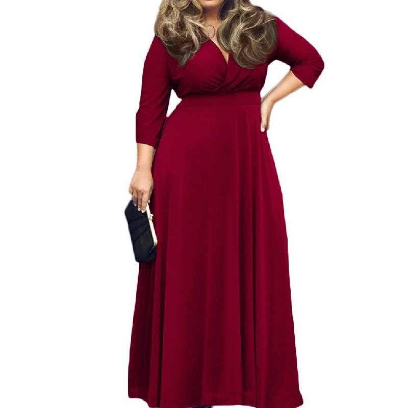 67eac36d2 Suelto Casual Plus tamaño vestido de las mujeres ropa de primavera otoño  moda Sexy puro con
