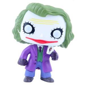 Image 3 - Funko pop 12 cm Joker Batman The Dark Knight Nhân Vật Phản Diện của Phiên Bản Hoạt Hình Hành Động Hình PVC Đồ Chơi Mô Hình cho trẻ em