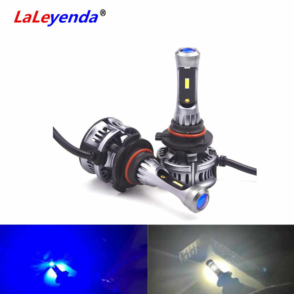 LaLeyenda CSP Car Light H4 LED high low beam H7 H1 9005/HB3 9006/HB4 H11 9012/HIR2 Headlight with 8000K blue lens 6000K daylight