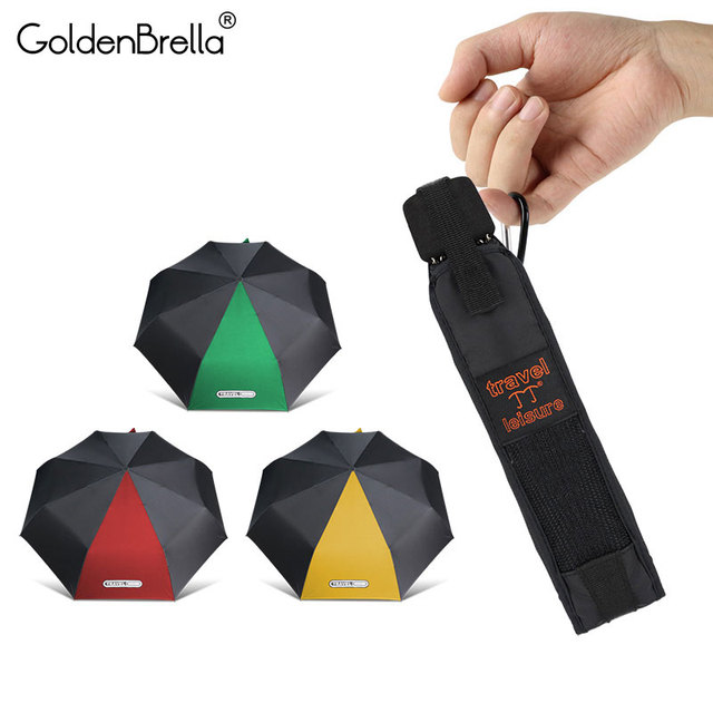 Mini Pocket Umbrella Women 3Folding Travel Umbrella Rain Women Men Windproof Outdoor Sun Ultralight Kids Umbrellas Parasol