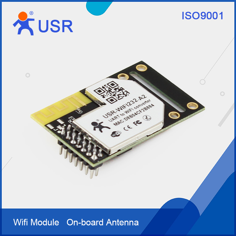 Q090 USR-WIFI232-A2 Pin Type Industrial Embedde Serial TTL UART to WiFi 802.11b/g/n Wireless Converter Module DHCP/DNS Function hlk rm04 uart serial port to ethernet embedded wifi module wireless network converter module with pcb antenna q013