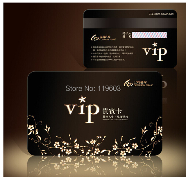 DHL Free Shipping Magnetic Strip VIP Card QR Code PVC Membership Card Smart  Card Gift Card  Membership Card Template