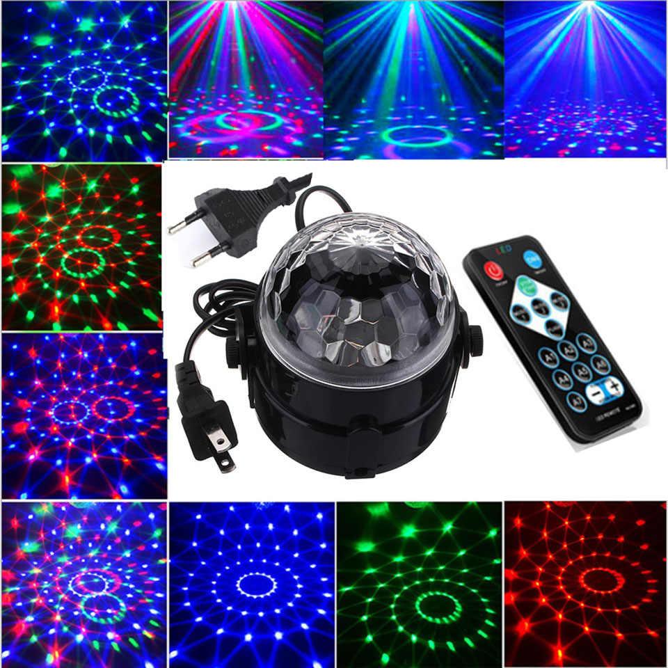 Dropship Led Della Discoteca E27 Luce Luci del Palcoscenico Palla Suono Attivato Laser Proiettore di Luce Della Lampada per la casa Di Natale decorazione del partito