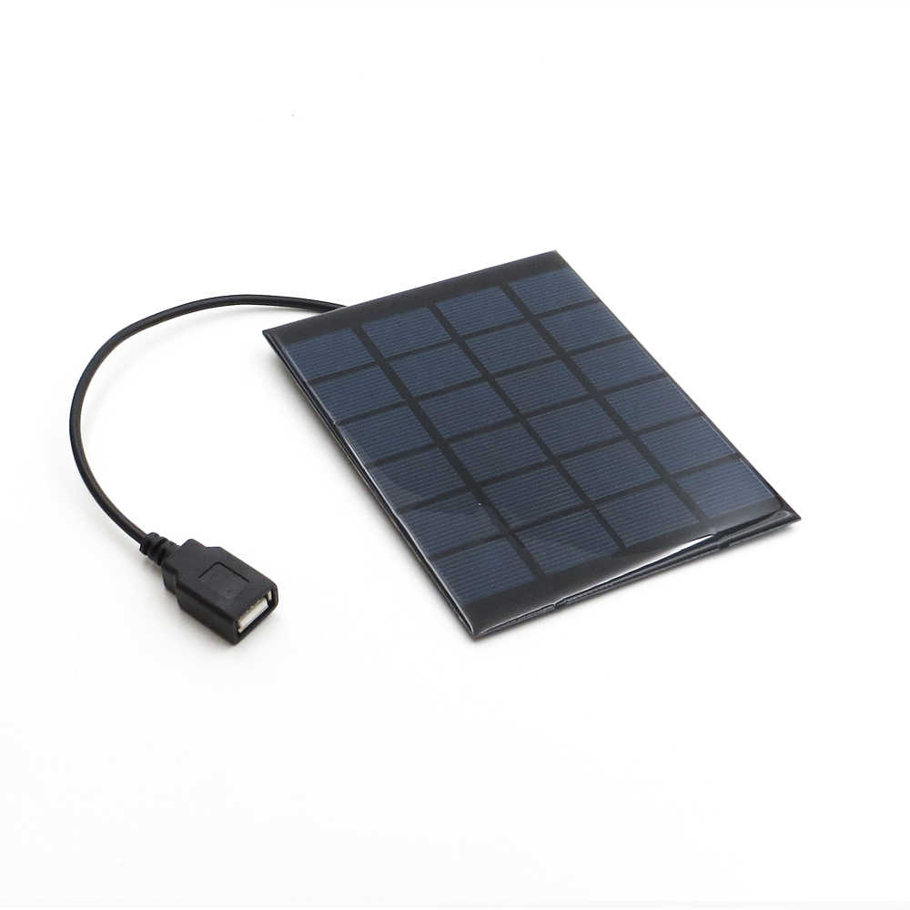 Solar Panel Charger 6V 2W Solar Cell Polycrystalline DIY Solar Charge Battery cable 30cm 5V USB output Solar Panel 6VDC