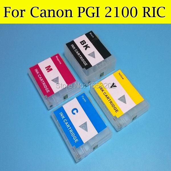 ФОТО For Canon PGI2100XL pgi2100 Ink Catridge compatible for Canon MB5310 iB4010 printer whit auto reset chips
