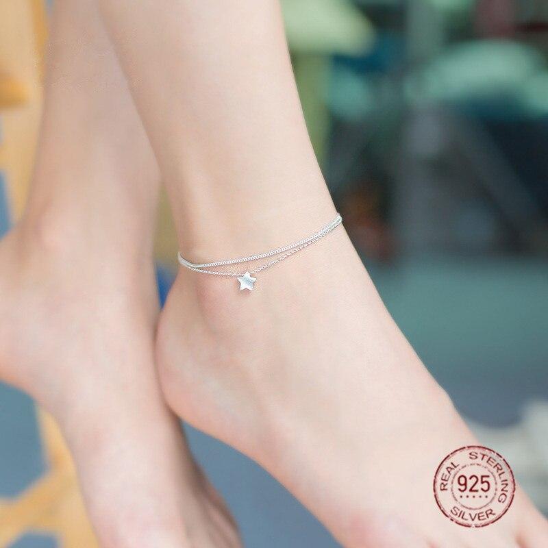 Sterling Silver 925 Anklet Bracelet