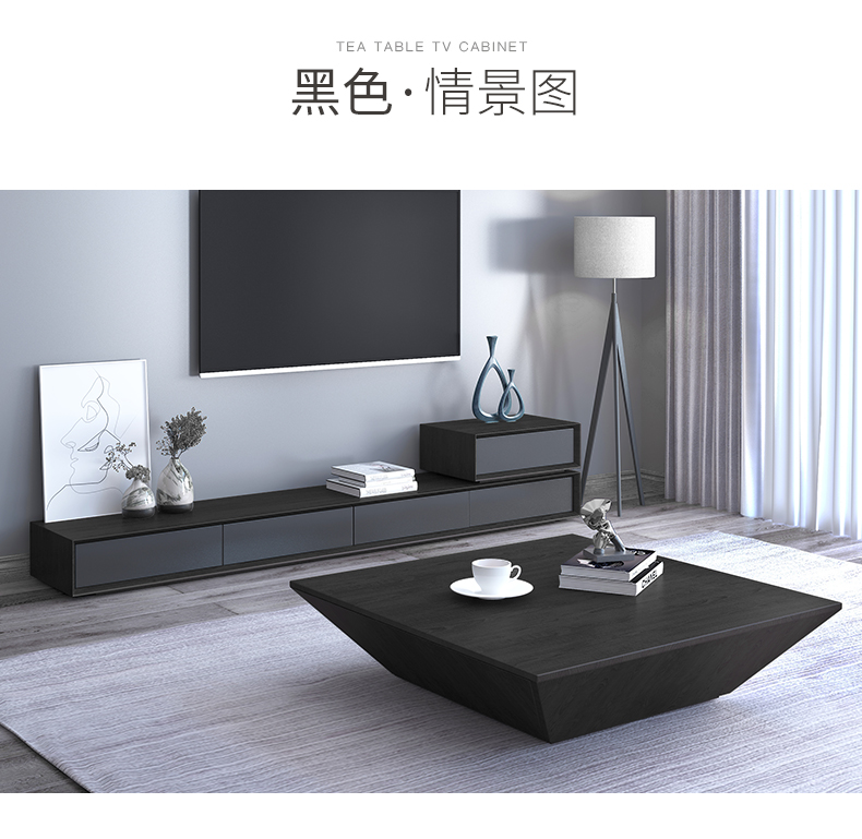 Tv-Stand Cabinet Table Mesa Wooden Mueble Tv Living-Room Modern Home Centro Coffee Matte