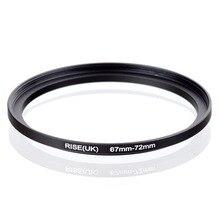 Oryginalny RISE (UK) 67mm 72mm 67 72mm 67 do 72 pierścień redukcyjny adapter do filtra czarny