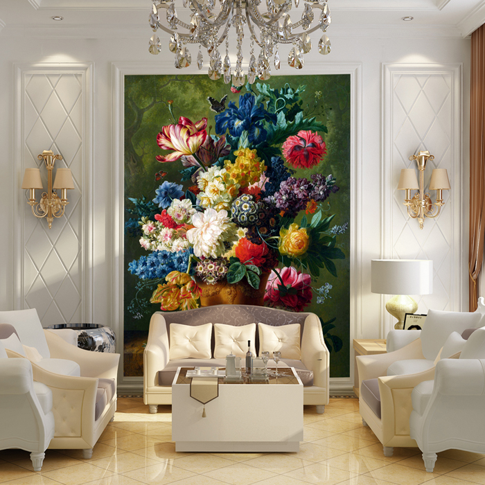 Mural Corridor sofa backdrop 3D wallpaper European oil painting the living room TV wall mural 3D wallpaper for walls 3d stereo relief peacock flowers mural photo wallpaper living room tv sofa study backdrop art wall paper for walls 3d home decor