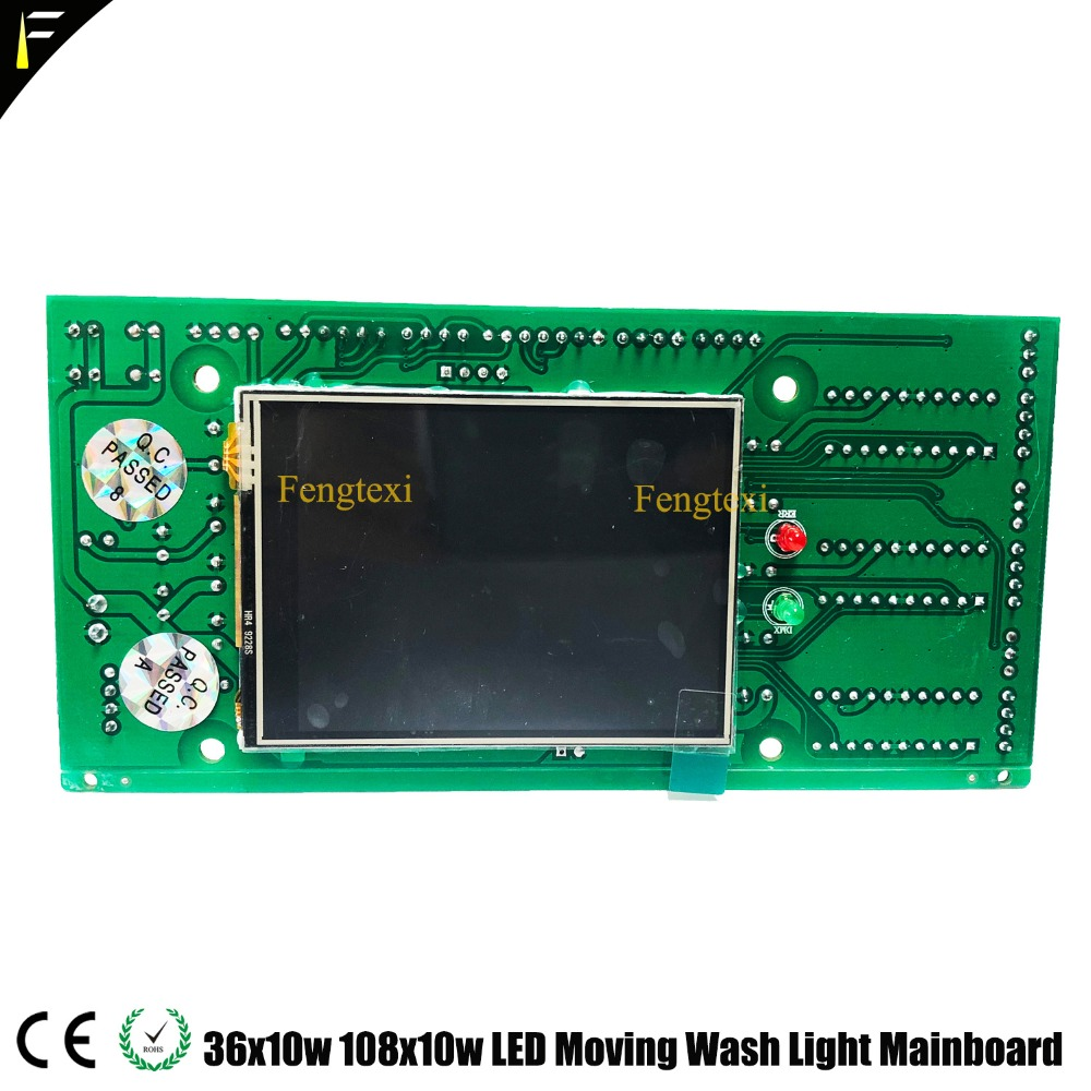 LED 워시 이동 헤드 디스플레이 보드 36x10 36x12 36x10W 36x12W RGBW 4in1 디스플레이 프로그램 보드