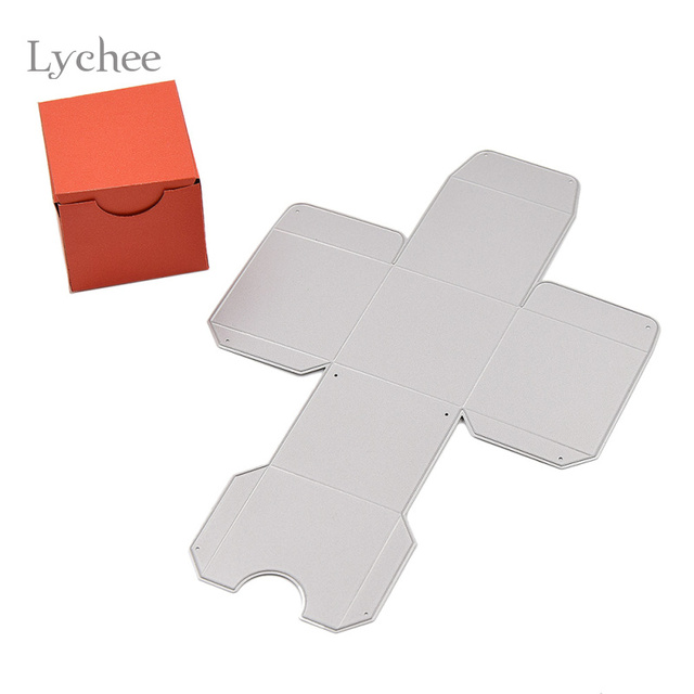 diy square gift box cutting dies stencils embossing card