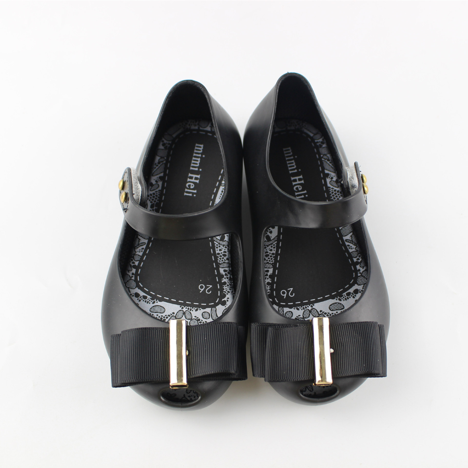 Black sandals baby girl - Mini Melissa Bow Baby Girl Sandals 2017 New Jelly Sandals Gold Buckle Cloth Bow Princess Shoes