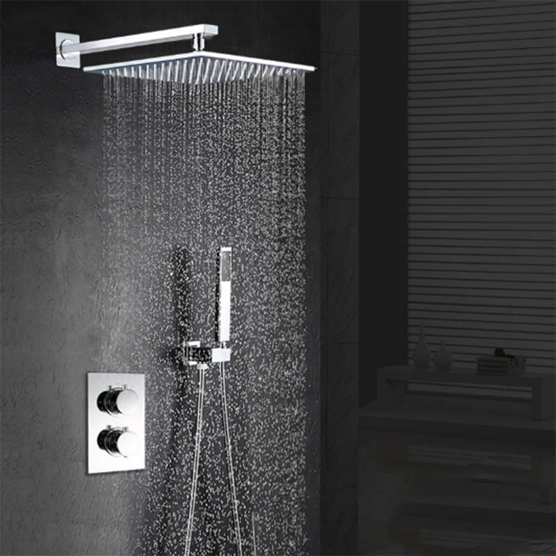 jmkws thermostat regendusche kopf set decke berg bad duscharmaturen top dusche panel mit regen - Regendusche Set