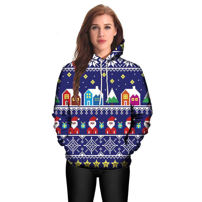 Christmas Couples Hoodies Women Man Running Jackets 3D Print Long Sleeve Winter Hoodies Top Blouse Shirts #2N20 (7)