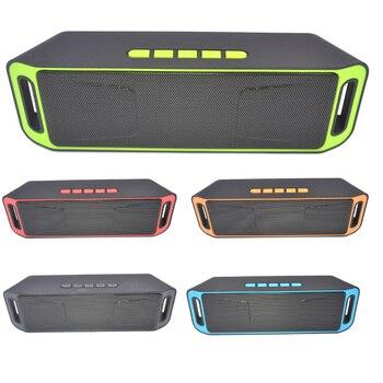 Altavoz portátil Bluetooth 4,0 de alta calidad, altavoz inalámbrico con soporte para tarjeta TF, USB, Radio FM, sonido grave estéreo, Subwoofer, altavoz para radiodifusión pública