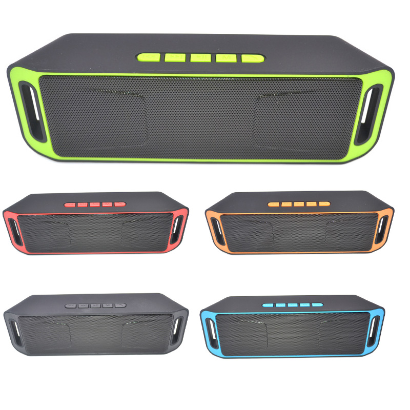 High Quality Portable Bluetooth 4.0 Wireless Speaker TF USB FM Radio Dual Bass Sound Subwoofer Loudspeaker Public Broadcasting