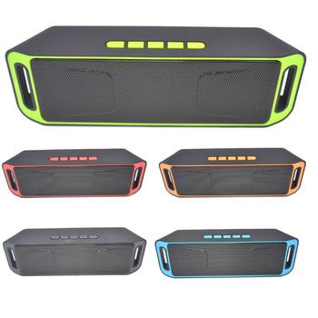 Wysokiej jakości przenośny głośnik bezprzewodowy Bluetooth 4 0 TF USB Radio FM podwójny bas dźwięk Subwoofer głośnik nadawanie publiczne tanie i dobre opinie ACRDDK 34644