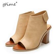 GTIME Shoes Woman Summer Gladiator Women Sandals Sexy Peep Toe Ankle Strap High Heel Sandals Sandalias de salto #ZWS97