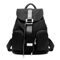 New Fashion Women Backpack Solid Waterproof Nylon Lady Small Back Shoulder Bags Preppy Style Girl School