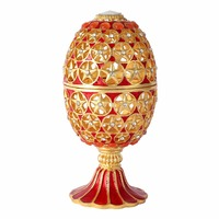 FLETCHER brand metal material Artificial coloured painting European Castle Style home Decoration Crafts Faberge egg