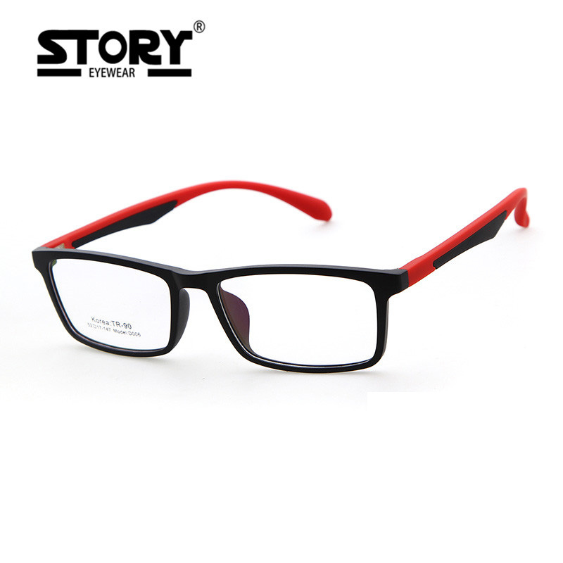 Story Women Men Square Glasses Frames 2017 New Fashion