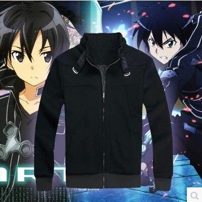 Anime Sword Art Online Hoodie Sweatshirts Jacket Zipper Coat Cosplay Costume