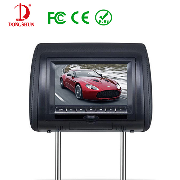ФОТО Color Optional 7 Inch Car AV Player Headrest Monitor WITHOUT DVD PLAYER With LCD Screen USB SD Games Remote Control