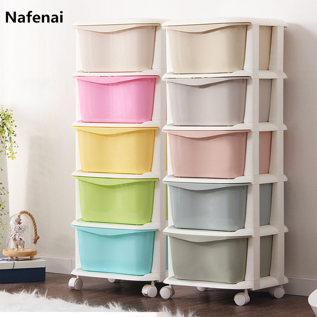Drawer organizer box high capacity storage organizador with 5 drawers boite rangement for clothes toys cosmetics container