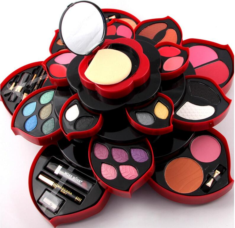 Miss Rose Maquillage Make up Eyeshadow Palette Pallete 23 Eyeshadow Lip Gloss Blusher Concealer Makeup Kit Cosmetics Tools Box eyeshadow big palette pro 148 color make up palette full color contour big palette blush lip gloss make up eyeshadow