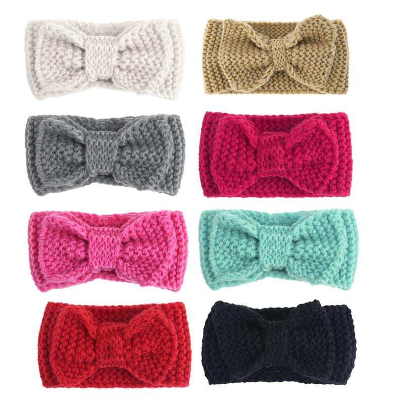 Crochet Bow Headband for Women and Baby Girls Winter Ear Warmer Knitted Hair Band Warmer Headband Hair Band Accessories 15pcs lot stretch elastic tutu headbands diy headband hair accessories 1 5 inch crochet headband free shipping 33colors in stock