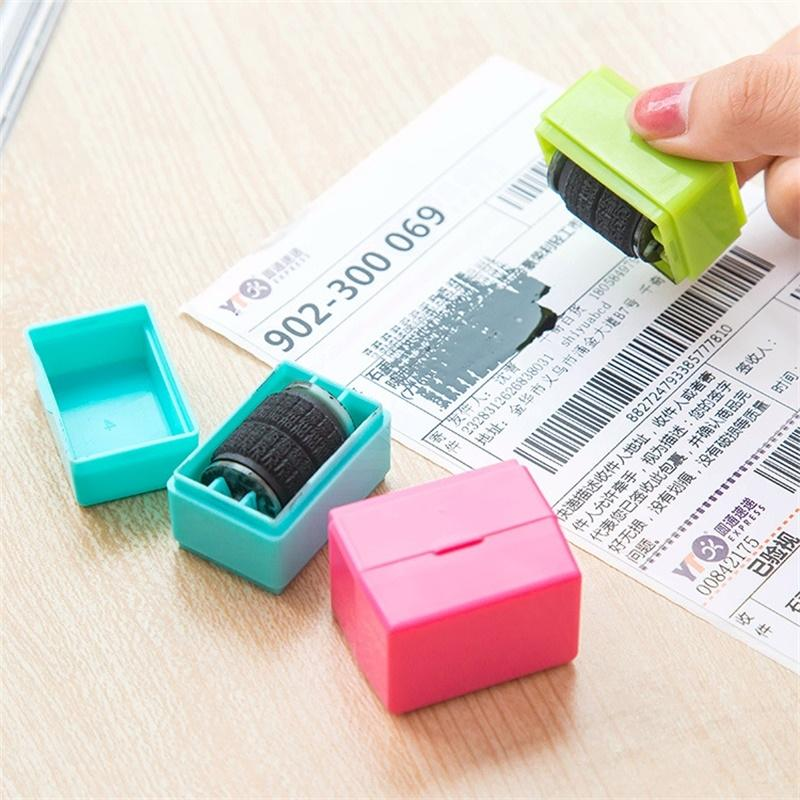 Office Plus Guard ID Roller Stamp Self Inking Stamp Messy Code Security DLUK