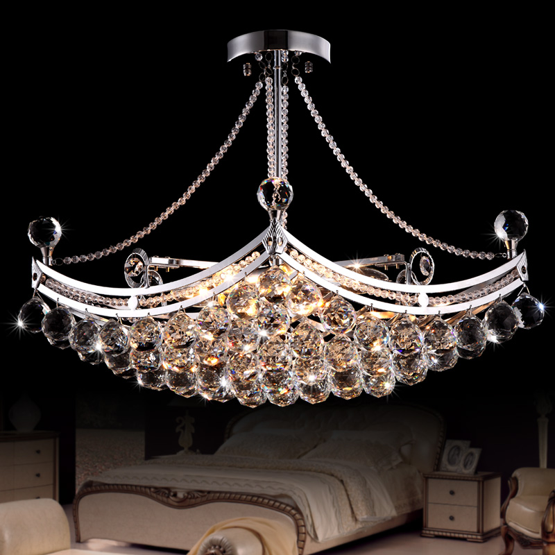 Modern Fashion Luxury LED Crystal Pendant Lamp 6 bulb Home Deco Dinning Room Lustres De Cristal Sala Teto Pendant Light Fixture 40cm acrylic round hanging modern led pendant light lamp for dining living room lighting lustres de sala teto